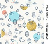 seamless pattern for the mid... | Shutterstock .eps vector #465011969