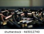 bullet casings on the black... | Shutterstock . vector #465012740