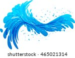 water splash vector on white... | Shutterstock .eps vector #465021314