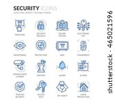 simple set of security related... | Shutterstock .eps vector #465021596