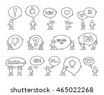 speech bubbles icons set with... | Shutterstock .eps vector #465022268