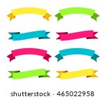 colorful modern ribbons big set.... | Shutterstock .eps vector #465022958