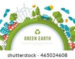 eco friendly  green energy... | Shutterstock .eps vector #465024608