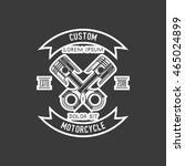 motorcycle badge | Shutterstock .eps vector #465024899