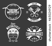 motorcycle badge | Shutterstock .eps vector #465024929