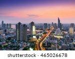 twilight scene of bangkok city... | Shutterstock . vector #465026678