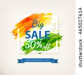 big offer sale for indian... | Shutterstock .eps vector #465027614