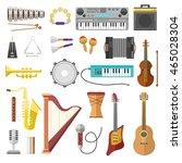 different music instruments... | Shutterstock .eps vector #465028304