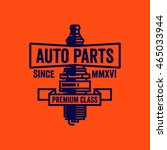 auto parts premium class logo.... | Shutterstock .eps vector #465033944