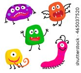 vector monsters collection.... | Shutterstock .eps vector #465037520