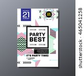 party flyer template. abstract... | Shutterstock .eps vector #465041258