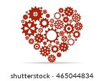 heart created with gears | Shutterstock .eps vector #465044834