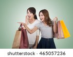 asian shopping woman with her... | Shutterstock . vector #465057236