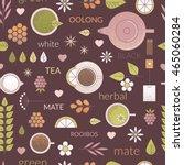 vector line seamless pattern... | Shutterstock .eps vector #465060284