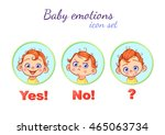 cute baby faces in different... | Shutterstock .eps vector #465063734
