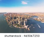 aerial view of lower manhattan... | Shutterstock . vector #465067253