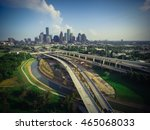 aerial view downtown and... | Shutterstock . vector #465068033