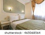 interior of luxury double bed... | Shutterstock . vector #465068564