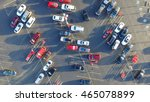 panorama top view parking lots... | Shutterstock . vector #465078899
