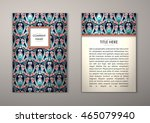 flyer template with abstract... | Shutterstock .eps vector #465079940