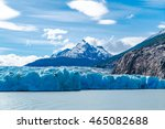 lago grey and grey glacier one... | Shutterstock . vector #465082688