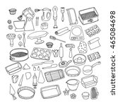 baking stuff  confectionery...   Shutterstock .eps vector #465084698