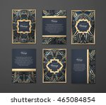 set of  coloful flyers ... | Shutterstock .eps vector #465084854