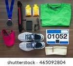 top view running shoes ... | Shutterstock . vector #465092804