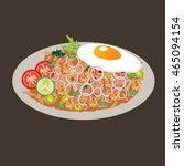 Fried Rice Vector Drawing...