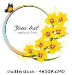 Yellow Orchids Banner With A...