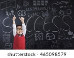 photo of a joyful schoolboy... | Shutterstock . vector #465098579