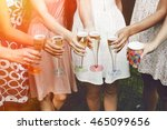 hands of woman holding colorful ... | Shutterstock . vector #465099656