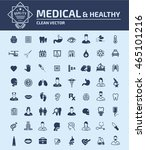 medical   healthy care icon set ... | Shutterstock .eps vector #465101216