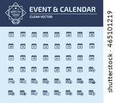 calendar icon set vector | Shutterstock .eps vector #465101219