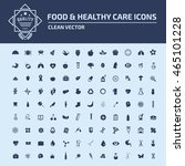 food and healthy icon set vector | Shutterstock .eps vector #465101228