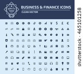 finance icon business icon set...   Shutterstock .eps vector #465101258