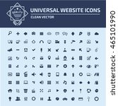 universal website icon set... | Shutterstock .eps vector #465101990