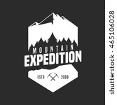 mountain adventure logo badge | Shutterstock .eps vector #465106028