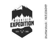 mountain adventure logo badge | Shutterstock .eps vector #465106049