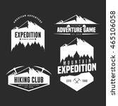 set of mountain adventure logo... | Shutterstock .eps vector #465106058
