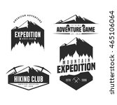 set of mountain adventure logo... | Shutterstock .eps vector #465106064