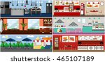 banner with restaurant...   Shutterstock . vector #465107189