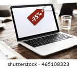 sale discount label tag...   Shutterstock . vector #465108323