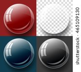transparency button  and bubble ... | Shutterstock .eps vector #465109130