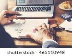 schedule agenda appointment... | Shutterstock . vector #465110948