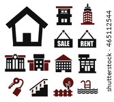 buying home icon set | Shutterstock .eps vector #465112544