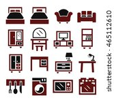 cabinet  furniture icon set | Shutterstock .eps vector #465112610