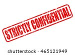 strictly confidential red stamp ... | Shutterstock .eps vector #465121949