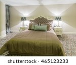 modern hotel room with big bed | Shutterstock . vector #465123233