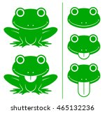 set of adorable smiling happy...   Shutterstock .eps vector #465132236